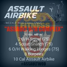 TRAIN HARD DO WORK  WEDNESDAY MEANS ASSAULT WOD  #a555aultwod from @assaultairbike - USE OUR FREE APP TO TRACK YOUR WORKOUTS ________________________________________  Want to be featured? Show us how you train hard and do work   Use #555fitness in your post. You can learn more about us and our charity by visiting  WWW.555FITNESS.ORG - - #firefighterfitness #buildingastrongerbrotherhood #pastparallel #damstrong #charity #nonprofit #trainwithus #assaultwod #assaultoncpr #trainharddowork