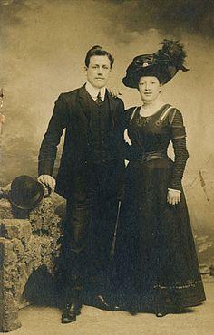 Victorian man & woman