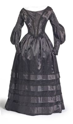 1840 mourning dress.