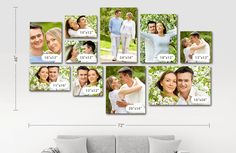 10 Panel Displays Decorate home walls with personalized canvas wall displays. Use multiple images or a single image spanning a display wall with your custom canvas at discounted prices. Canvas Wall Collage, Large Wall Canvas, Photo Wall Collage, Photo Canvas, Collage Walls, Picture Wall, Home Office, Photo Tiles, Gallery Wall Layout