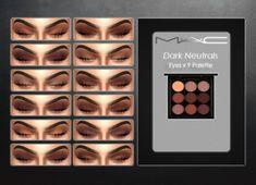 MAC cosimetics: Dark Neutral Eyes 9 Palette • Sims 4 Downloads