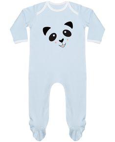 26cf56daa27c0 Pyjama Bébé Manches Longues Contrasté Bébé Panda Mignon - K-créatif