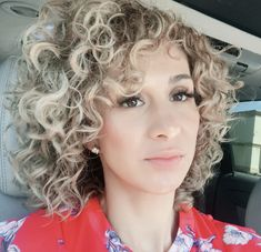 Natural curly hair!