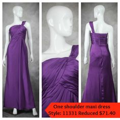 Lovely purple one shoulder maxi - great for bridesmaids, and wearing to semi formal events. Wrapped One Shoulder Maxi Bridesmaid Dress Style Code: 11331 $84 Order this maxi dress here: http://www.outerinner.com/wrapped-one-shoulder-maxi-bridesmaid-dress-pd-11331-0.html?k=11331=usd #OuterInner #MaxiDress