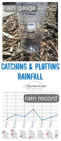 A DIY rain gauge is a simple (and fun) science craft. Kids will love tracking rainfall on a free printable daily rain record too!