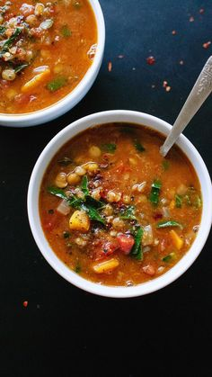 Lentil Soup THE BEST RECIPE. Healthy and delicious, homemade lentil soup - THE BEST RECIPE. Healthy and delicious, homemade lentil soup - Homemade Lentil Soup, Best Lentil Soup Recipe, Vegan Lentil Soup, Vegan Soups, Lentil Vegetable Soup, Green Lentil Soup, Homemade Vegetable Soups, Vegan Lentil Recipes, Vegan Curry