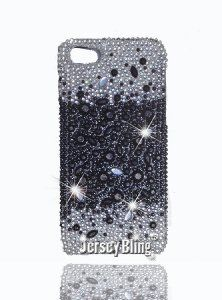 Amazon.com: Bling! Rhinestone Diamante Iphone 5 Case, Cover in Black & Clear with 3D Gems by Jersey Bling (TM): Cell Phones & Accessories