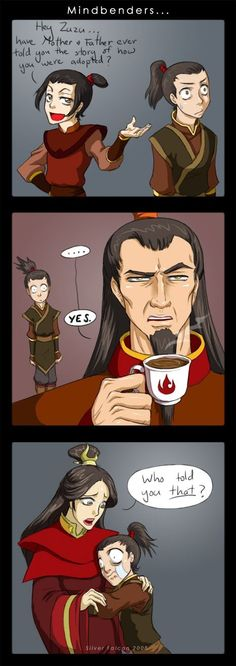 NO!  Zuko can't be adopted! ... Or can he?