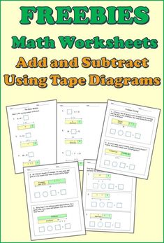"Free math worksheets grade Solve word problems without relying on ""cue words"". Learn to understand and solve word problems using bar models/tape diagrams. Build a solid foundation on solving word problems skills. Addition And Subtraction Worksheets, 1st Grade Math Worksheets, Printable Worksheets, Bar Model, Singapore Math, Math Word Problems, Homeschool Math, Elementary Math, Math Resources"
