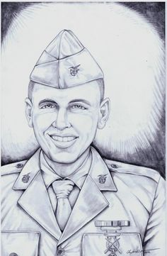 Fallen Hero Portrait United States Marine Corps Lance Corporal Jordan Christian Haerter was killed in action in Ramadi, Iraq On April 22, 2008,. At 19 years of age
