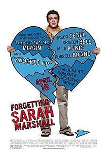 Forgetting Sarah Marshall is a 2008 American romantic comedy film directed by Nicholas Stoller and starring Jason Segel, Kristen Bell, Mila Kunis and Russell Brand. The story revolves around Peter Bretter, who is a music composer for a TV show that happens to feature his girlfriend, Sarah Marshall, in the lead role. After a five-year relationship, Sarah abruptly breaks up with Peter.