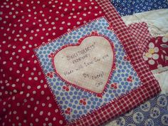 valentine quilt label, via Flickr.