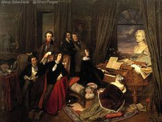 Liszt at the Piano c.1840 Oil on canvas, Nationalgalerie, Berlin, Germany.