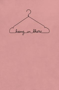 Hang In There - pink Art Print