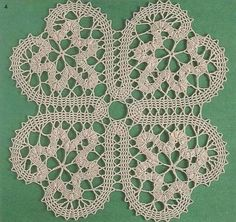"""Crochet version of bobbin tape lace - neither is """"real"""" tape lace, as both are made using only one technique. Mezzo Punto is mostly bobbin lace, but the different parts are sewn together with needle lace techniques Freeform Crochet, Thread Crochet, Filet Crochet, Irish Crochet, Crochet Yarn, Crochet Motif Patterns, Bobbin Lace Patterns, Crochet Tablecloth, Crochet Doilies"""