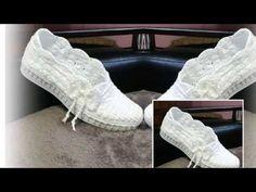 Sandale crosetate pentru femei - YouTube