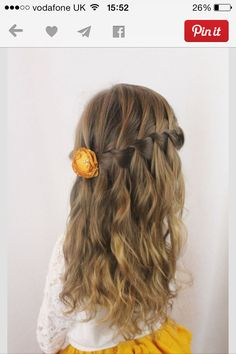 Flower girl / junior bridesmaid hair