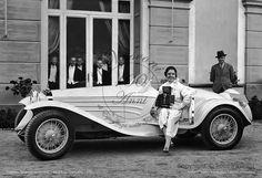Concorso Eleganza automobili – Villa d'Este - Cernobbio- 1931  il 13 settembre 1931 si svolse a Villa d'Este di Cernobbio Il Concorso di Eleganza per automobili, una manifestazione  di  livello internazionale, nella foto l'Alfa Romeo 6C 1750 GS – Carrozzeria Tourig, vincitrice quell'anno della Gran Coppa d'Oro di Villa d'Este www.fotovasconi.it