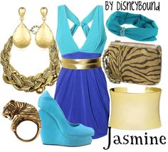 "Disney Princess ""Jasmine - Aladdin""-inspired outfit.   Disney Bound."