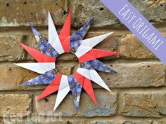 Red Ted Art's Paper Star Wreath - these paper stars are surprisingly easy to make and are a fabulous introduction to beginner Origami