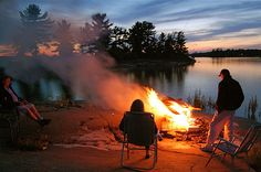 I love love love sitting around the campfire at night (or anytime), especially on a cool summer night, when all of the stars are out, by a lake...yes!!!! And, MUSIC is a must!