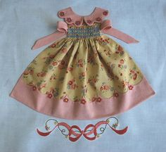 This is a cool idea of how to incorporate smocking: pics of smocked doll dress quilt blocks Quilting Projects, Quilting Designs, Pattern Blocks, Quilt Patterns, Patch Bordado, Block Dress, Heirloom Sewing, Applique Quilts, Little Dresses