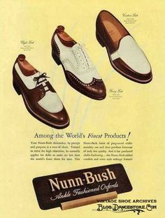 Vintage Fashion: Artifacts From Years Gone By - Popular Vintage Vintage Shoes, Vintage Men, Vintage Outfits, Vintage Fashion, Vintage Style, Men's Shoes, Shoe Boots, Spectator Shoes, Shoe Art
