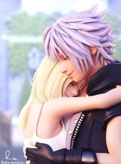 hug by Baka-neearts on DeviantArt Kingdom Hearts Namine, Kingdom Hearts Games, Kingdom Hearts Characters, Kingdom Hearts Fanart, Final Fantasy, Kingdom Hearts Wallpaper, Kh 3, Art Manga, Poses
