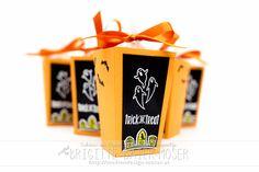 Süßigkeiten-Verpackung für Halloween mit den Popcorn-Schachtel-Thinlits von Stampin'Up!