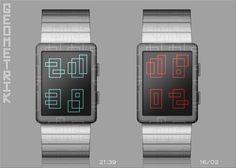 """Geometrik"" concept watch on the Tokyoflash blog."