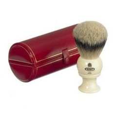 Kent Large Mens Pure Silver Tip Badger Black Ivory Shaving Brush Gift by Kent Badger Shaving Brush, Shaving Soap, Shaving Cream, Best Shaver For Men, West Coast Shaving, Kent Brushes, Classic Shaving, Bay Rum