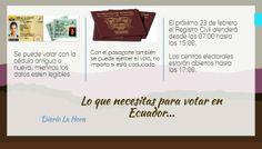 Lo que se necesita para vota en Ecuador