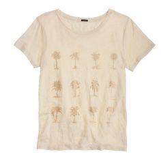 Linen vintage palm tree tee : short-sleeve tees   J.Crew