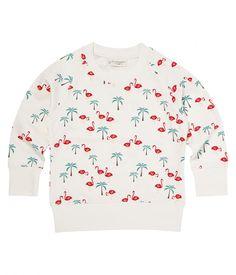 Sense Organics Sweatshirt flamingo print