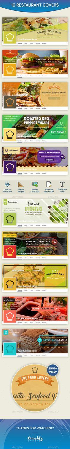 Restaurant Facebook Cover Templates PSD