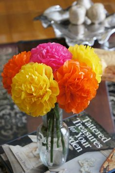 Spring Fling Tissue Paper Flowers 6 count by PrincessApprovedShop, $6.00