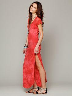 Free People Maxi Lace Dress, $118.00