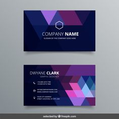 Abstract geometric business card Free Ve. Free Printable Business Cards, Free Business Card Templates, Free Business Cards, Business Card Design, Calling Card Design, Name Card Design, Brochure Design, Branding Design, Visiting Card Design