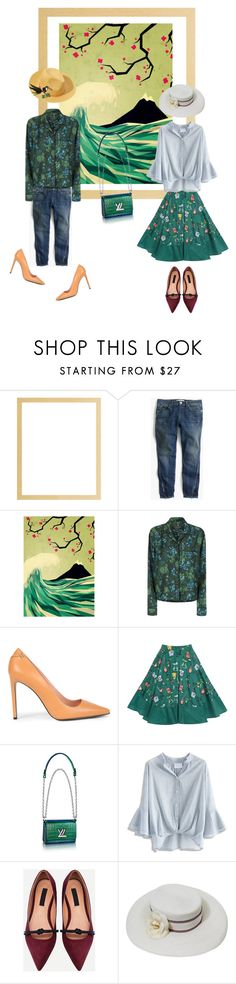 """Green bag"" by perfectforyou ❤ liked on Polyvore featuring J.Crew, Monde Mosaic, Burberry, Roland Mouret, Chicwish, Chanel and Été Swim"