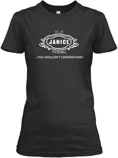 Janice Tshirt, Janice Thing! Black Women's T-Shirt Front