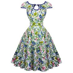 Hearts and Roses London Snow White Floral 1950s Dress | Dresses | Starlet Vintage