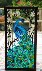 Art Nouveau peacock glass - Google Search