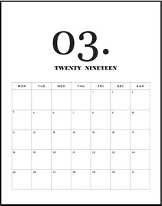 March Calendar 2019 Printable Template in PDF Word Excel