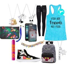 Disney by kirimaus on Polyvore featuring Mode, Paige Denim, Vans, Disney, The Bradford Exchange, Belk Silverworks, Marc by Marc Jacobs and Maybelline