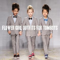 Roundup: Tomboy Flower Girl Outfits - A Practical Wedding A Practical Wedding: We're Your Wedding Planner. Wedding Ideas for Brides, Bridesmaids, Grooms, and Flower Girl Outfits, Flower Girls, Practical Wedding, Lesbian Wedding, Wedding Trends, Wedding Ideas, Wedding Fun, Wedding Stuff, Wedding Venues