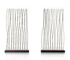 Albino Celato Dandy Room Dividers - Screen made with hand-bent and crafted steel rod. It can be used as ornamentation or for dividing up rooms, adding a decorative touch. Room Divider Screen, Room Dividers, Concrete Bath, Steel Rod, Albino, Deco Design, Dandy, Baths, Alternative