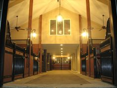 Inside a KC horse barn --- VERY nice!!!