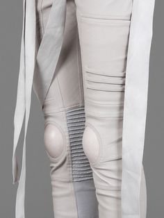 RICK OWENS NAGAKIN LEGGINGS WITH KNEE INSERTS AND STRAP DETAILS
