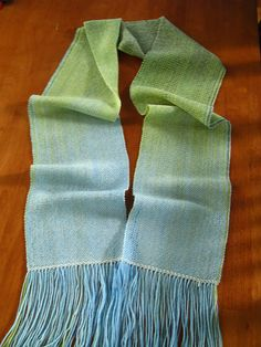 Fabulous color-pooling scarf