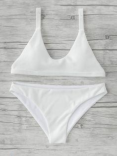 ddfcede3a1 SheIn - SheIn Triangle Beach Bikini Set - AdoreWe.com Trendy Bikinis